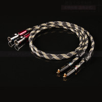 1 pair UK QED silver plated double lotus turn card audio signal cable RCA to XLR / RCA to XLR balance line