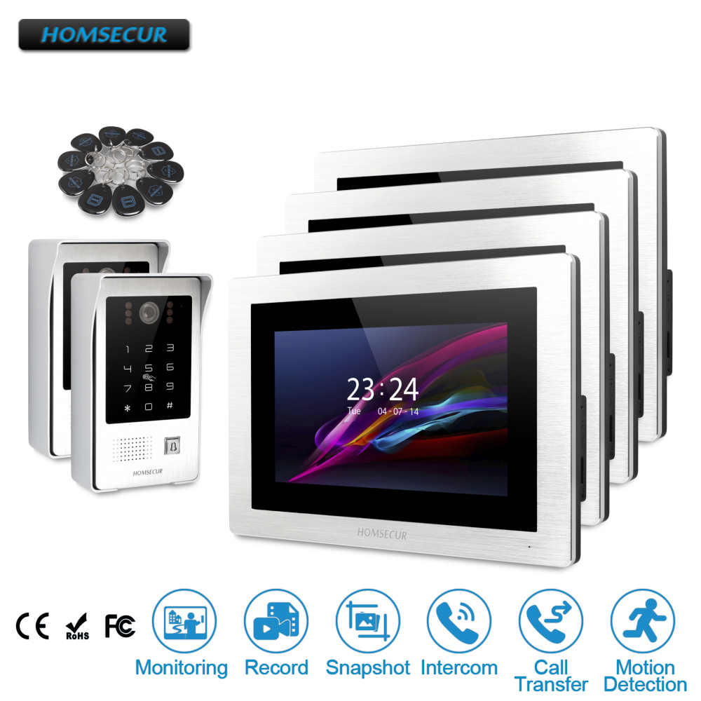 HOMSECUR 7 Wired Video&Audio Home Intercom+Touch Screen Monitor for Apartment BC091 +BM714-S my apartment