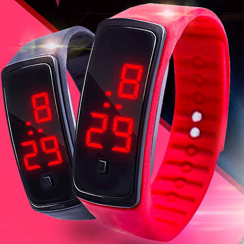 LED Watch Fashion Sport Digital Watch Silicone Running Bracelet Wrist Watch