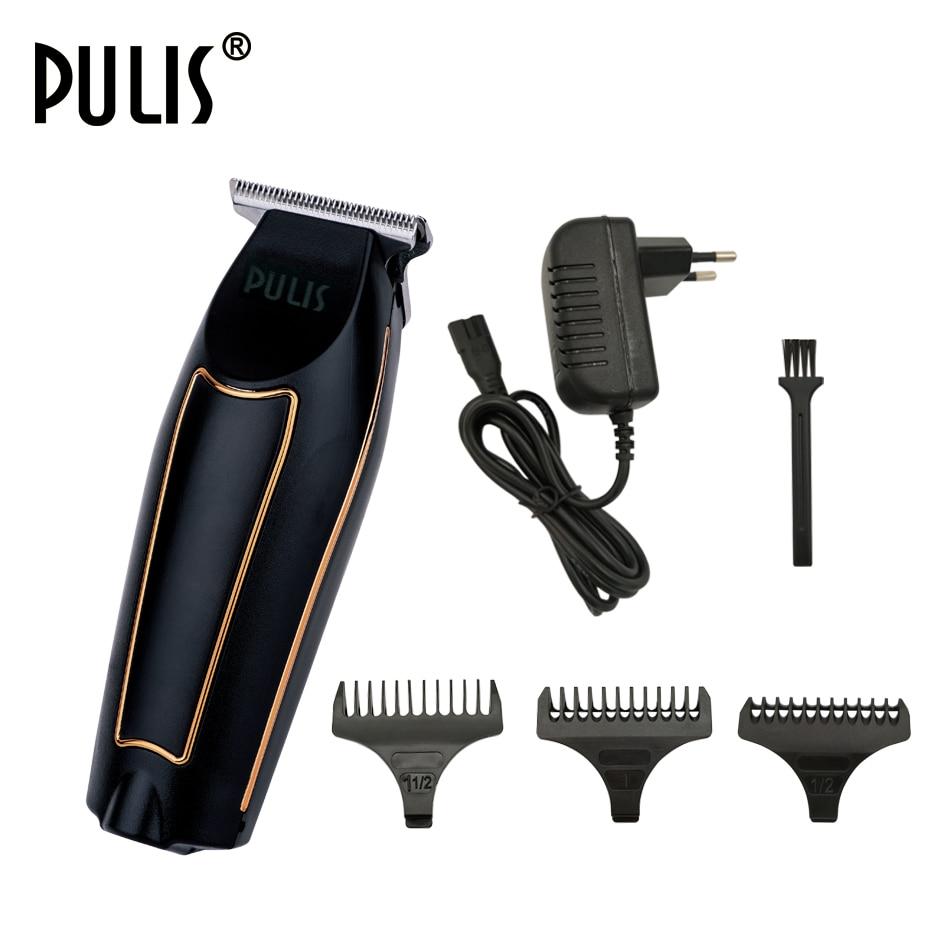 PULIS Professionnel Cheveux De Précision Tondeuse Électrique Tondeuse 100-240 v Rechargeable Chauve Tête Rasage Machine Home Barber Outil