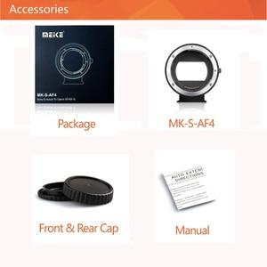 Image 2 - Электронный адаптер MEIKE EF NEX для Canon EF EFS, адаптер с автофокусом для Sony с полной рамкой и креплением E A9 A7M3 A7R3 A7R2 A6500 A6400 a6300