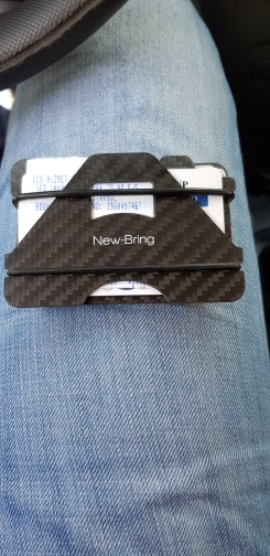 NewBring 100% Carbon Fiber Credit Card Holder Business Cards ID Wallet With RFID Anti-thief Wallet Men photo review