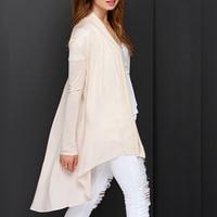 Fashion Women Blusas Femininas Long Sleeve White Wear Work Forked Tail Knitted Blouse Cardigan Free Shipping SC13