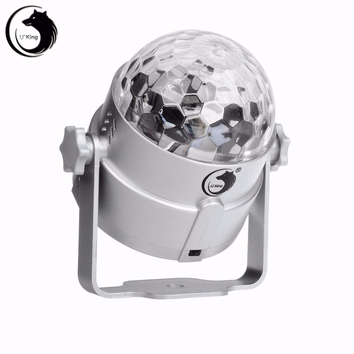 Voice Control Auto 3 Color LED Magic Stage Light Crystal Ball Night Lamp Hanging Club Pub Bar Disco Wedding Party Show Lighting novelty glass magic plasma ball light 3