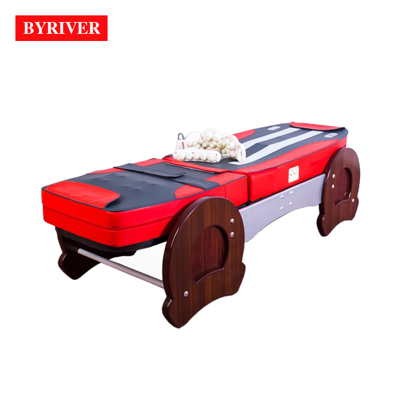 Image 5 - BYRIVER Best Version Roller Lift 3D Therapy Massage Bed Thermal Massager 9+4 Jade Roller Add Back Incline Decline function    -