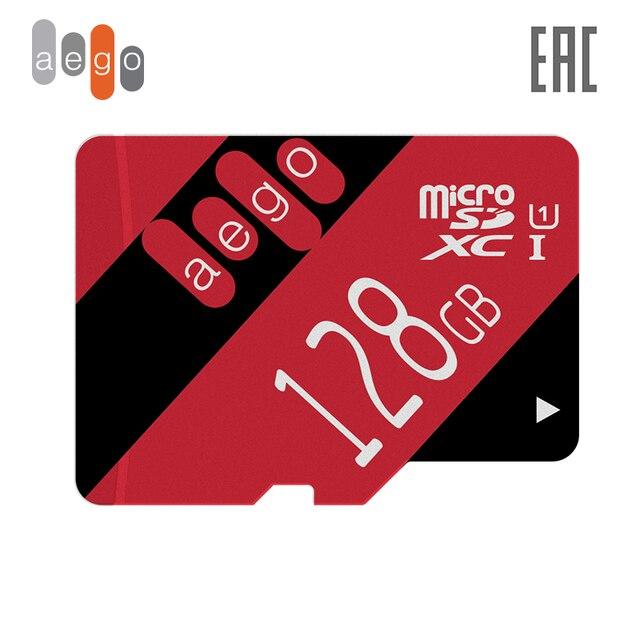 Карта памяти AEGO 128ГБ U1 Class 10 microSDXC (без адаптер)