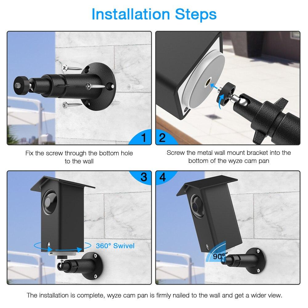 Wall Mount with Waterproof Case for Wyze Cam Pan/Xiaomi Mijia Dafang  Camera,Outdoor 360 Degree Swivel Security Camera Bracket