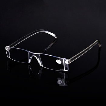 Zilead Rimless Vision Glasses Women And Men Magnifier Magnifying Eyewear Reading Glasses Portable Presbyopic Glasses Parent Gift
