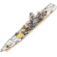 Piececool russo battlecruiser pyotr velikiy 3d metal puzzle diy montar modelo kits de corte a laser jigsaw construção brinquedo presente P110-GS