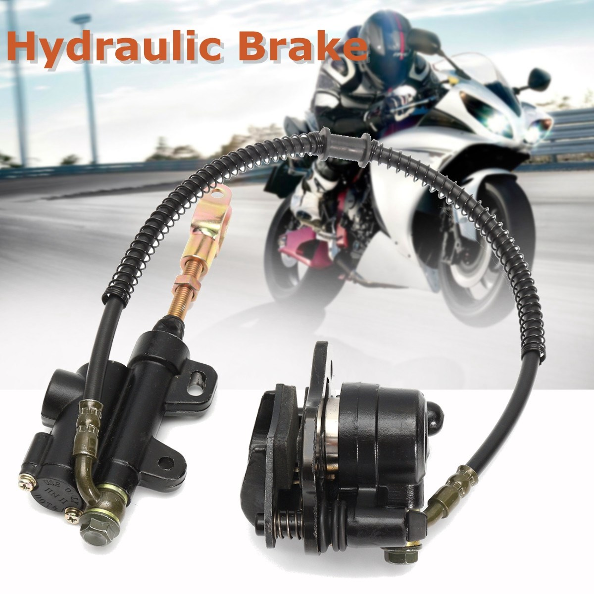 Hydraulic Rear Disc Brake Caliper System For PRO Quad Dirt Bike ATV 110cc 125cc fastnet force 10 rei paper only page 4