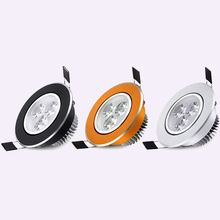 White/Black/Gold/Silver shell 3W LED Ceiling down light 300LM AC85-265V spot lights for ceiling led spotlight lamp Free shipping