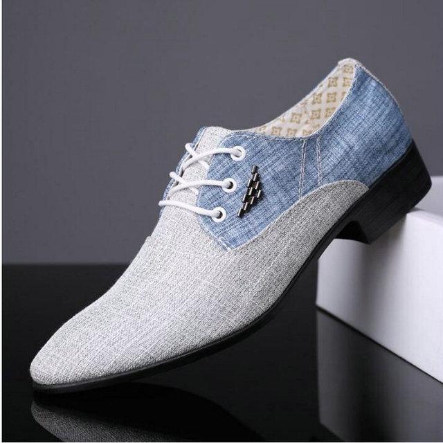 BIG SIZE 38-45  British fashion Men wedding Business dress shoes man Pointed toe brogue Bullock  office footwear shoes LE-03