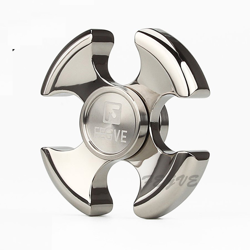 FEGVE Top Quality Fidget Spinner Engrave Logo Titanium EDC Hand Spinner For Autism and ADHD Anxiety Stress Relief Focus Toys new style edc round three corner camouflage hand spinner for autism and adhd anxiety stress relief focus toys