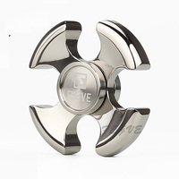 FEGVE Top Quality Fidget Spinner Keychain EDC Copper Titanium Hand Spinner Keyring For Autism ADHD Anxiety