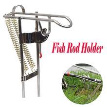 Soporte de aparejos de pesca de doble ángulo de resorte automático soporte de pesca de acero antioxidante soporte de caña accesorios de aparejos de pesca
