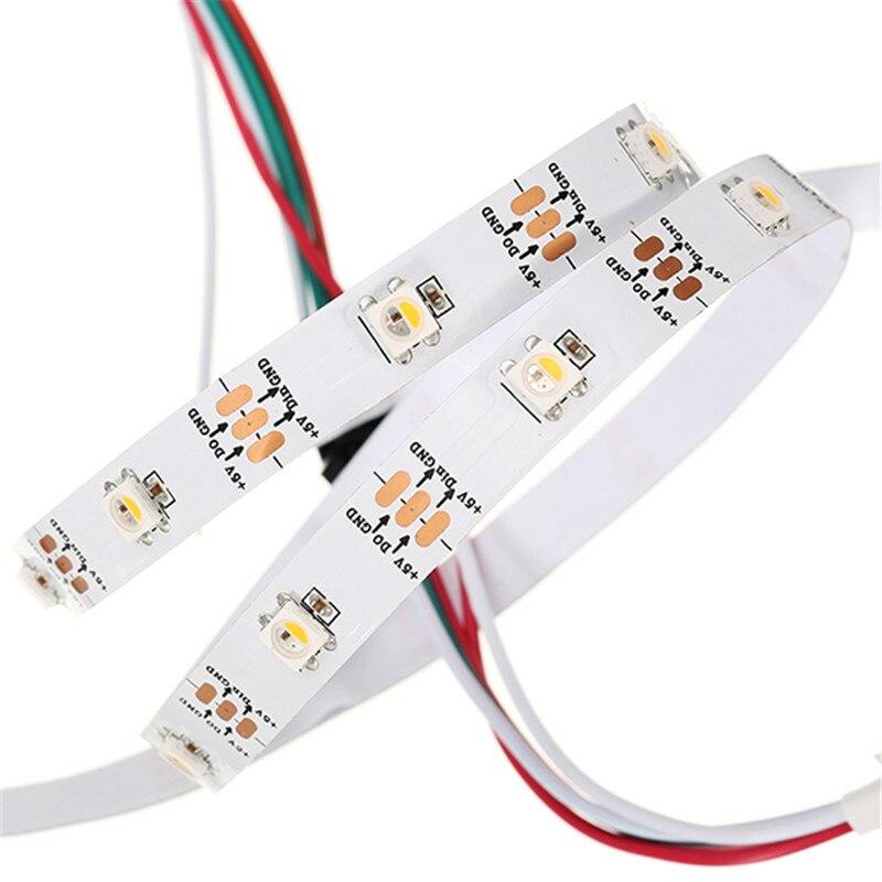Smuxi 1 м 5 м WS2812B 5 Шпильки RGBW rgbww 4 в 1 Светодиодные ленты света не Водонепроницаемый DC5V WS2812 IC