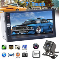7012B Universal 2 Din Car Multimedia Player 7 InchTouch Screen 1080P 170 Degree Car Video MP5 Player Night Vision Backup Camera
