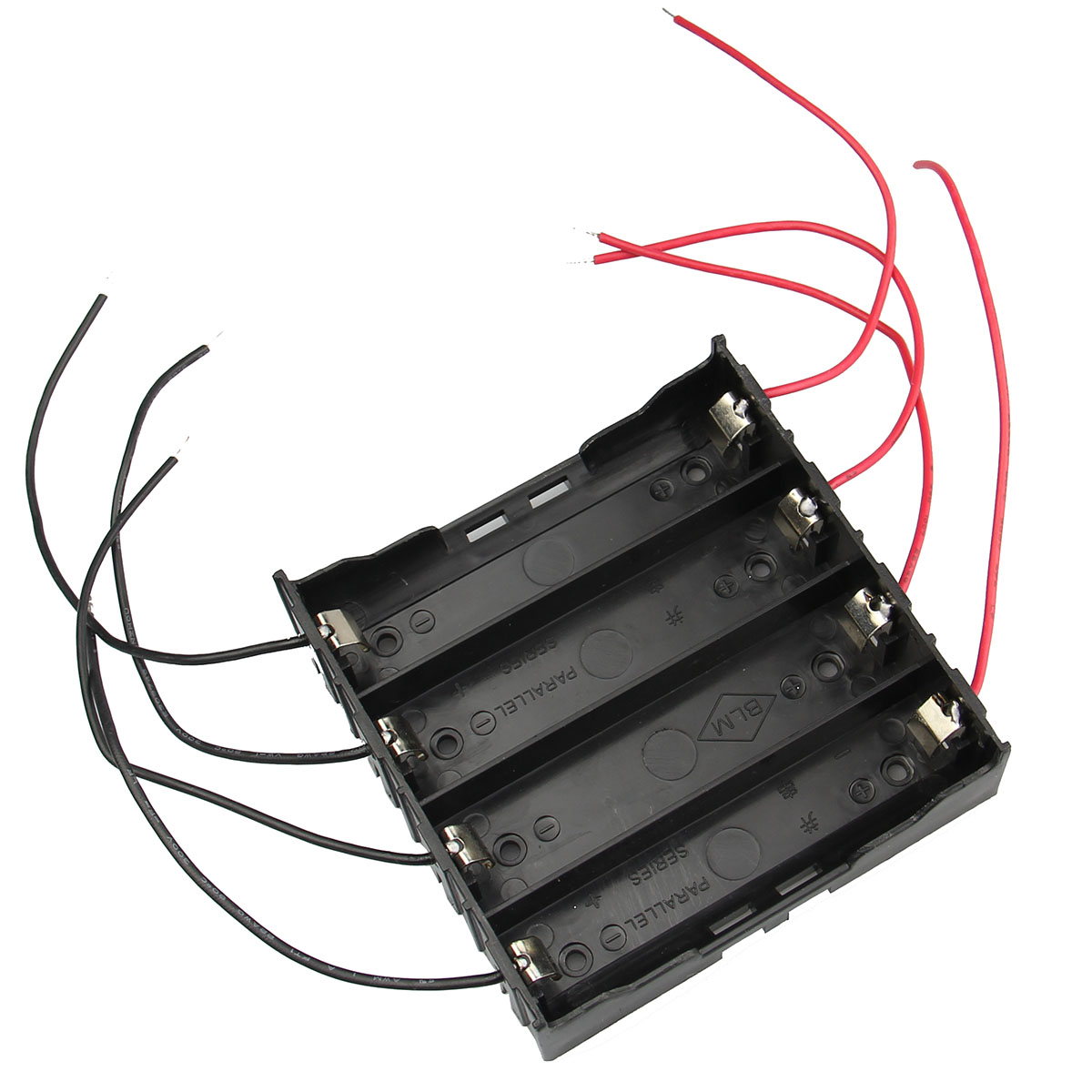 New Arrival DIY 4 Slot 18650 Battery Holder With 8 Leads