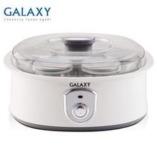 Йогуртница Galaxy GL 2690 (Мощность 20 Вт, 7 стеклянных баночек по 200 мл, низкое энергопотребление)