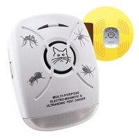Multi purpose Electro magnetic & Ultrasonic Pest Chaser Repeller Anti Mosquito Bugs Cockroach Killer 110V