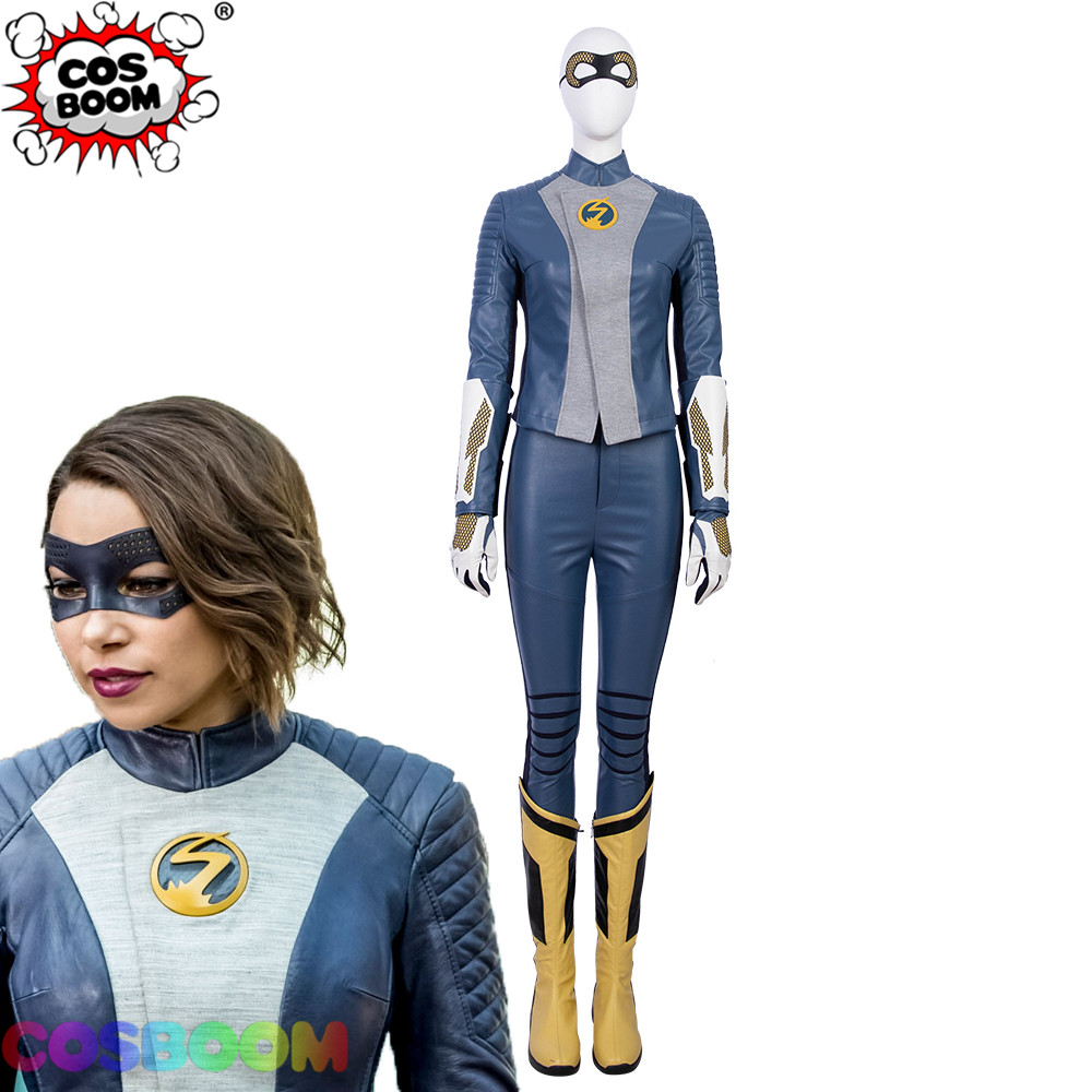 COSBOOM The Flash Season 5 Nora Allen XS Cosplay Costume Women Halloween Carnival Superhero Outfit The Flash XS Cosplay Costume