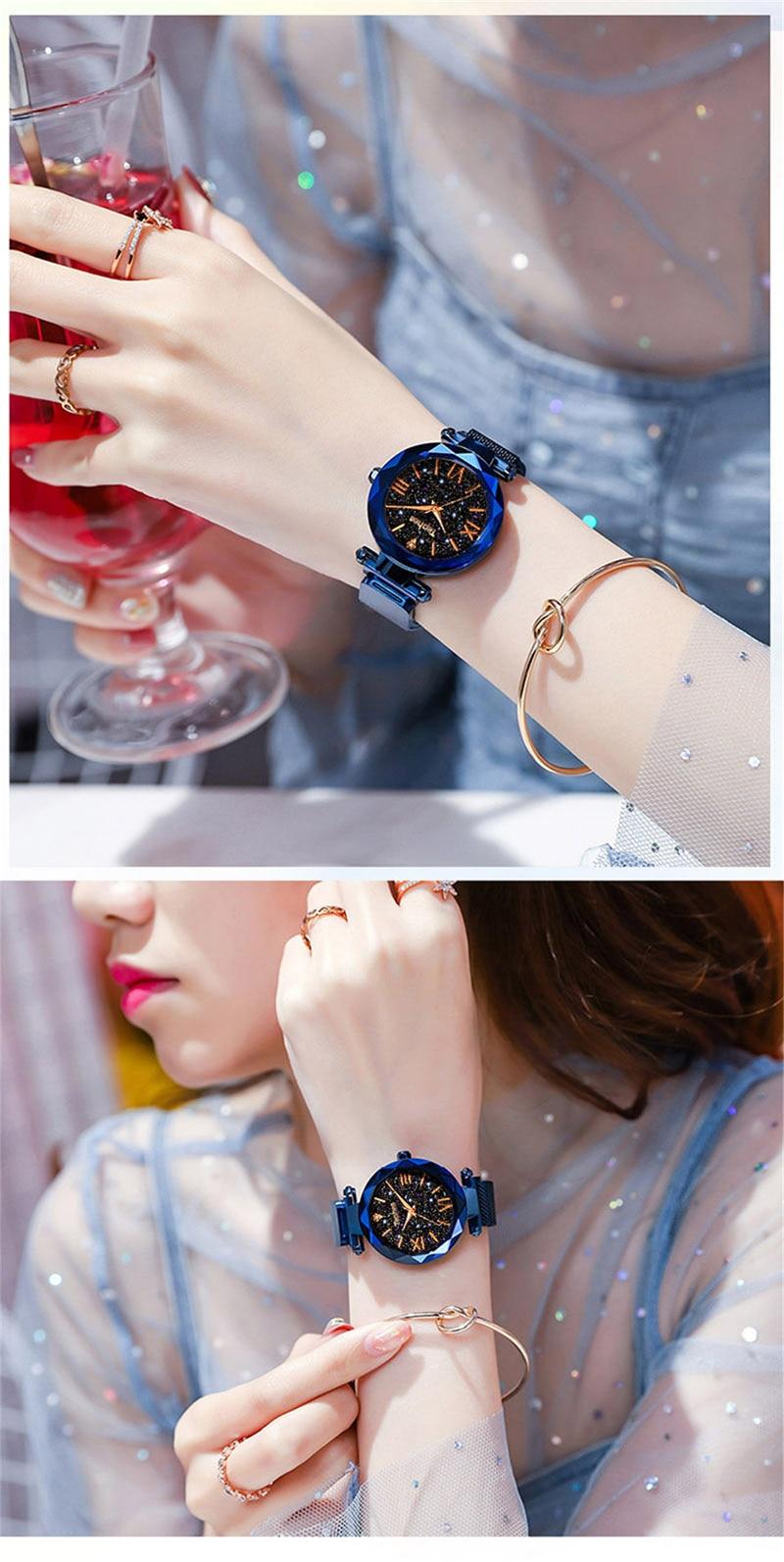 Luxury Women Watches Magnetic Starry Sky Female Clock Quartz Wristwatch Fashion Ladies Wrist Watch reloj mujer relogio feminino (15)