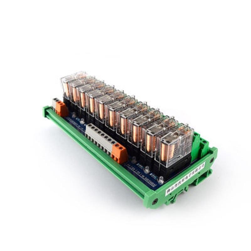 10-way relay module G2R-2 PLC amplifier board relay board relay module 24V12v compatible NPN/PNP10-way relay module G2R-2 PLC amplifier board relay board relay module 24V12v compatible NPN/PNP