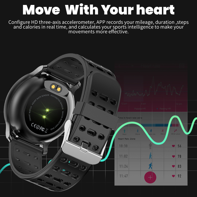 CYUC NY03 Smart Watch IP68 waterproof Heart rate monitor Smartwatch Message reminder Fitness tracker For Android and IOS