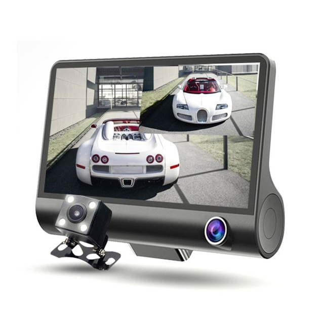 Viecar 3 Lens Car DVR Front/Inside/Rear Full HD 1080P Camera Motion Detection