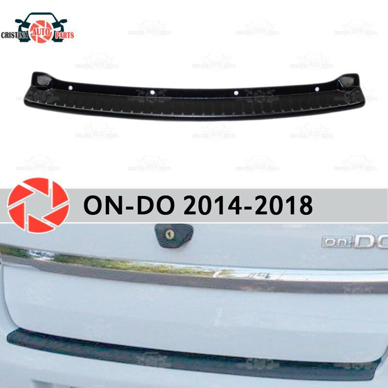 Couvercle de plaque pare-chocs arrière pour Datsun On-Do 2014-2018 plaque de protection de protection de voiture style accessoires de décoration moulage