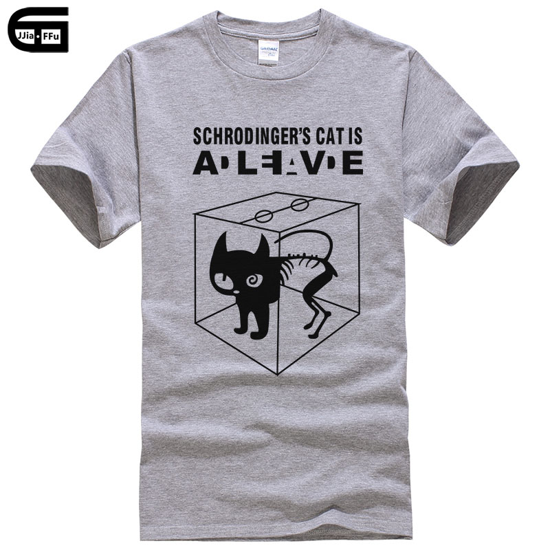 2018 The Big Bang Theory   T  -  shirt   Sheldon Cooper Schrodinger 's Cat   T     shirt   Men Cartoon Anime Printed Tops Tees T132