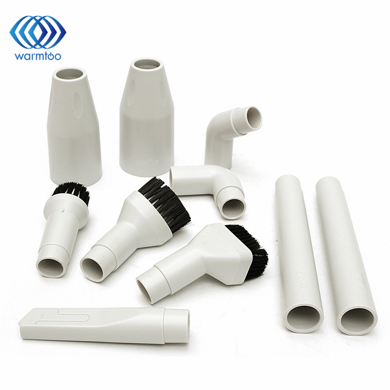10pcs White 32mm/35mm Vacuum Cleaner Kit Soft Dusting Brush + Adaptor Connector Tool Replacement vacuum cleaning kit attachement kit dusting dusting brush nozzle crevices tool upholster tool for 32mm