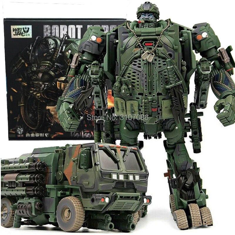 Robot de juguete de gran tamaño con figura de acción de INSPECTOR de modelo de camión de humo de camuflaje-in Figuras de juguete y acción from Juguetes y pasatiempos    1