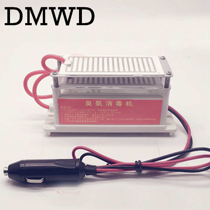 DMWD 10g ozone generator 12V car Portable disinfection Machine Ozonizer Air Cleaner Purifier titanium Plate Sterilizer Filter