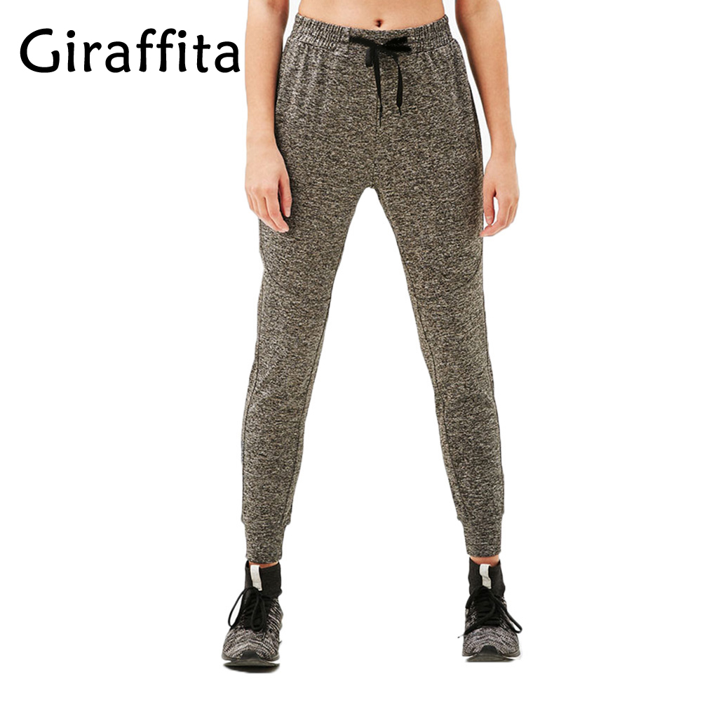 Giraffita Yoga Pants Knitted Sports Trousers High Waist Fitness Women Fitness Gym Running Pants Sportswear Trousers