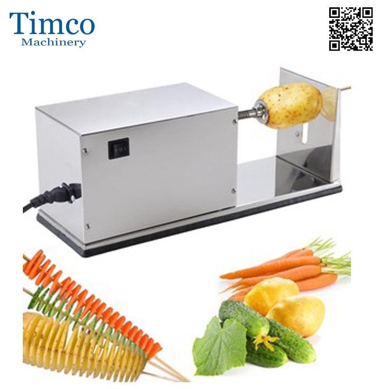 Electric Twist Potato Cutter Automatic 110V 220V Stainless Steel Freeshipping Spiral Potato Machine