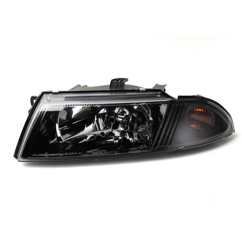 Headlight Left For MITSUBISHI CARISMA 1998 1999 2000 2001 2002 2003 2004 Driver Side - BLACK