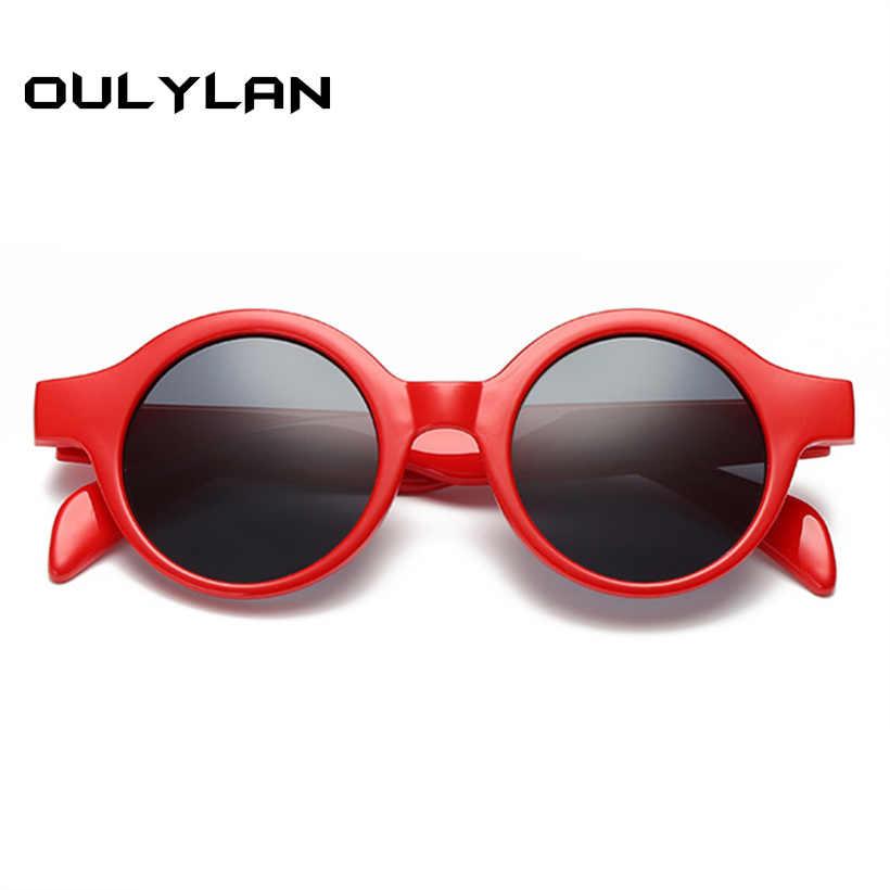a1d2a5995f Oulylan pequeña ronda de gafas de sol de las mujeres de los hombres de moda  Retro
