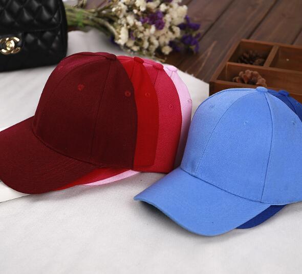 Solid color men and women bending board blank baseball cap couple cap outdoor shade hat