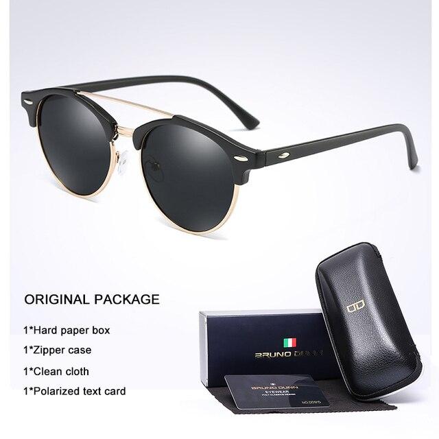 4f1de59f60 Bruno Dunn Classic Polarized Sunglasses Men Women Retro Brand Designer  round Sun Glasses Female Male Fashion
