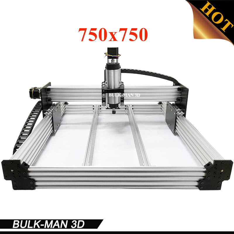 WorkBee CNC Complete Engraving Machine, WorkBee CNC Router Machine Full kit with Spindle Inverter, Electronic Combos 750*750mm workbee cnc aluminum plates kit lead screw driven and belt version for workbee cnc router machine cnc engraving machine