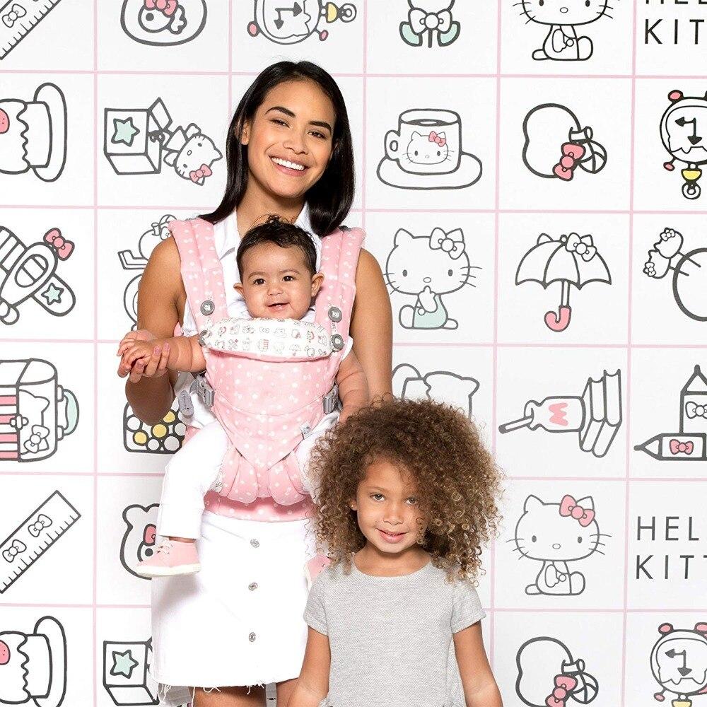 360 omni cuatro posiciones ergonómico de algodón orgánico bebé portátil multifuncional chico transporte abrigo ajustable de la honda del bebé
