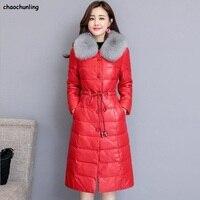 2018 новый дизайн зимние корейские женская Мода Толстые Для женщин пуховик супер теплый Водонепроницаемый 100% белая утка вниз большой Размеры