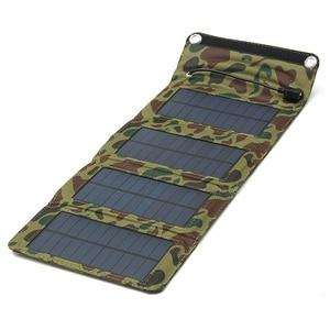 Image 2 - Leory 7 ワット usb ソーラー電源銀行ポータブルソーラーパネルバッテリー充電器キャンプ旅行折りたたみ電話充電キット