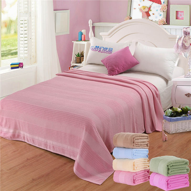 Adult Cotton Towel Blanket Summer Air Conditioning Quilts Bedspread Soft Throw Blankets on Sofa Bed Plane