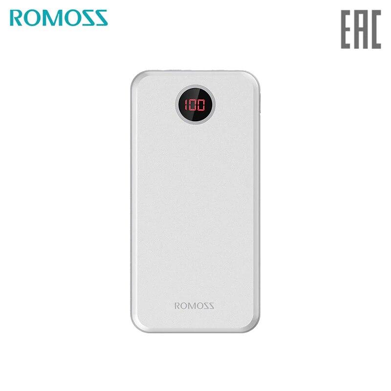 Купить со скидкой Внешний аккумулятор Romoss HO20 с дисплеем 20000мАч