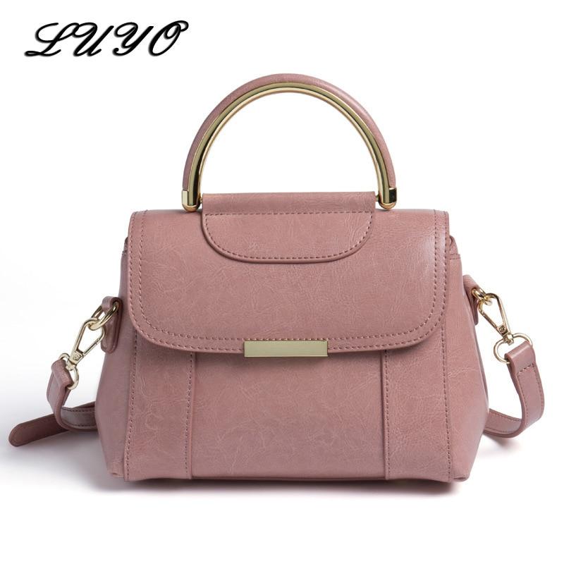 LUYO Genuine Leather Women Messenger Shoulder Bags Female Tote Bag Famous  Brand Neutral Ladies Designer Handbags High Quality ac7d0d25b0529