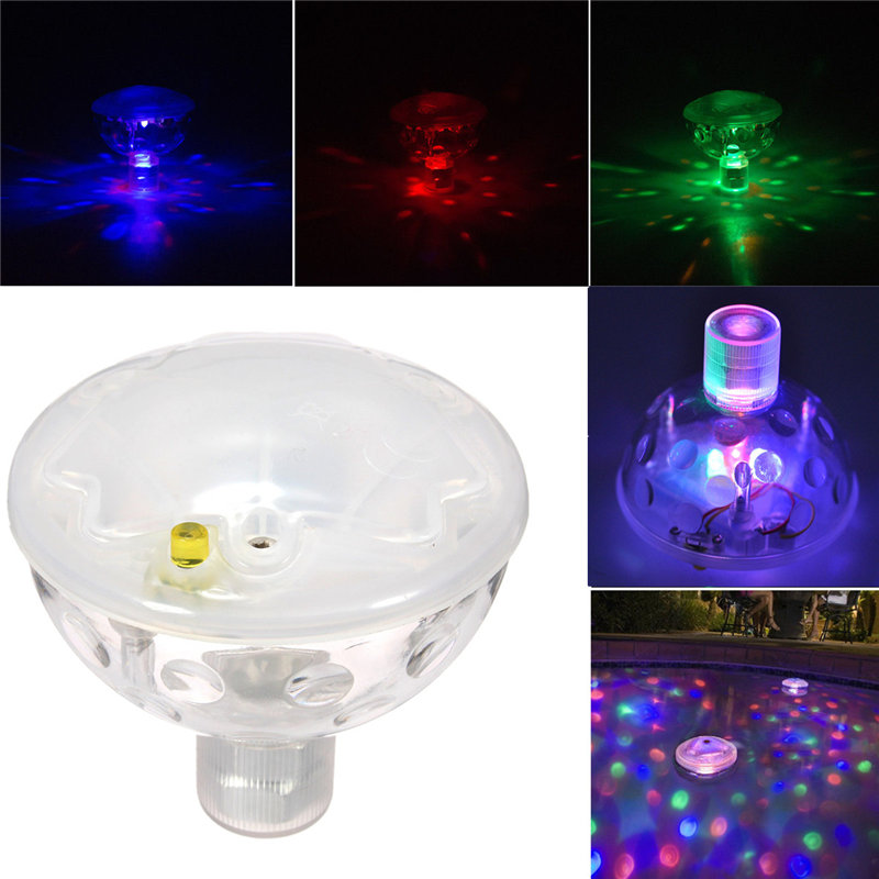 Underwater Fountain Light Show Swimming Pool Disco Party Float Spa Bath Pond Lights Waterproof Color Changing Glowing LED