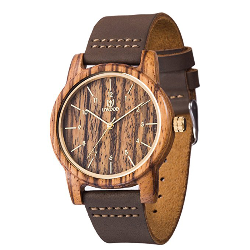 New Wooden Watches Quartz Watch Men 2018 Brand Casual Wristwatch Analog Nature Wood Fashion Soft Leather Creative Birthday Gifts