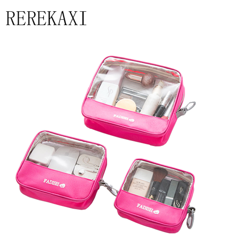 REREKA leisure cosmetics bag transparent